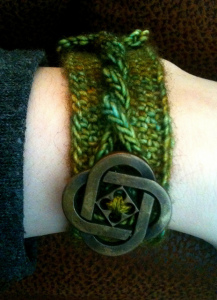 Meyham08 braccialetto bottone treccia