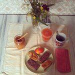 pane e torta con pasta madre