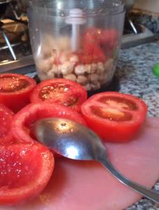 pomodori ripieni con ceci vegan