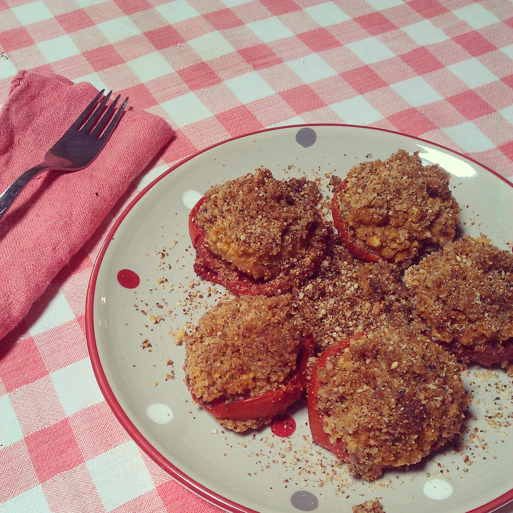 pomodori ripieni gratinati con ceci vegan violetab